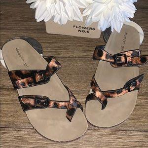 Madden Girl Leo Velvet Leopard print sandals